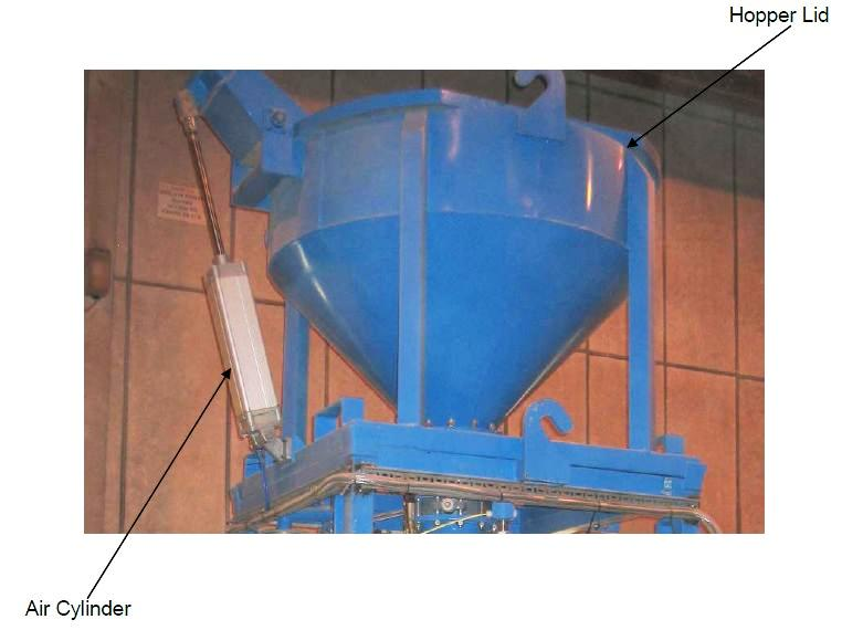 Monocon vertical ladle repair hopper